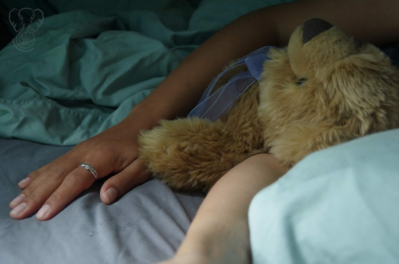 Miranda and Bear Bear - After Adrian's Death