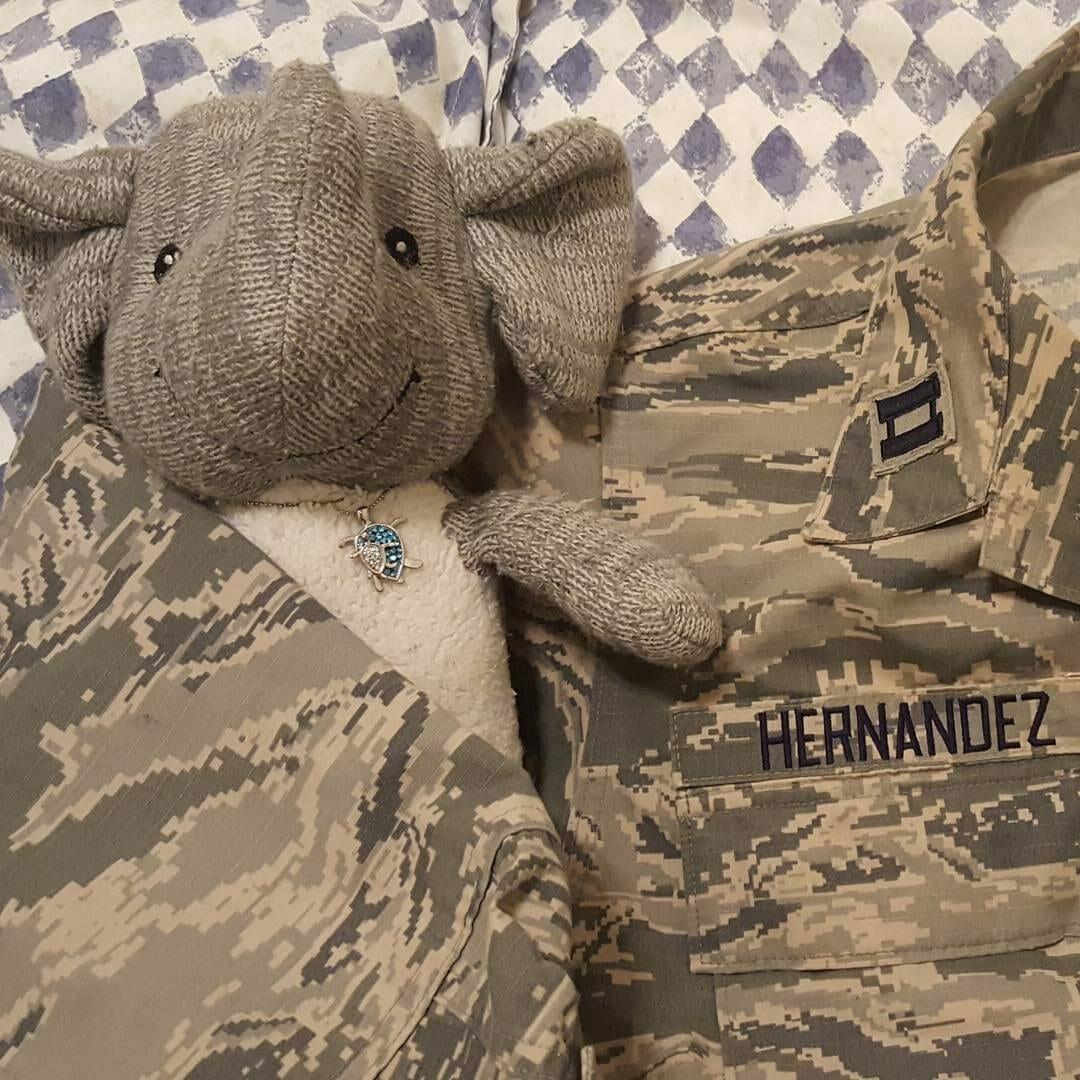 Adrian's Elephant and Miranda's uniform top