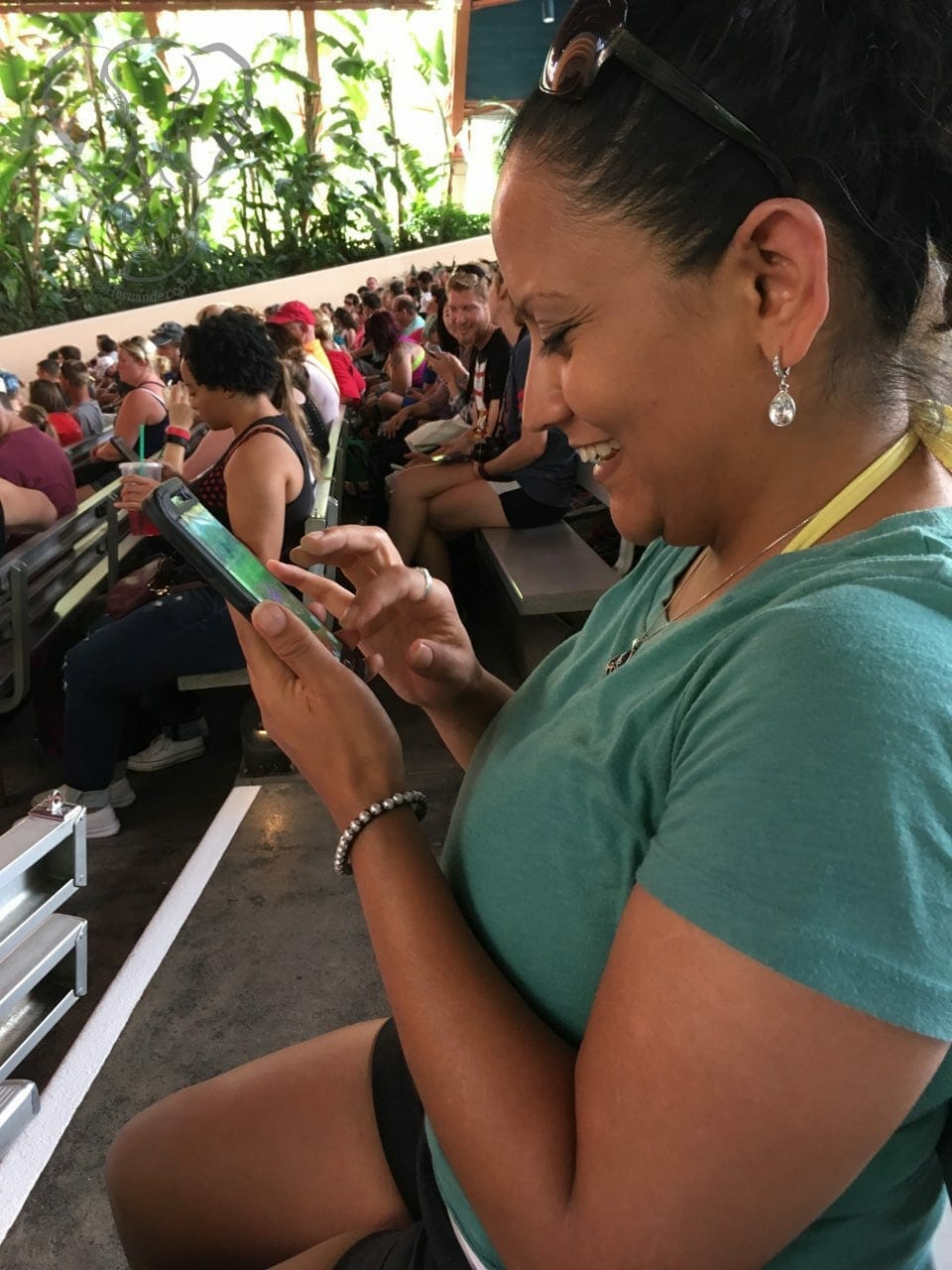 Miranda playing Pokeman Go on the day she found out she was pregnant (photo used with permission)