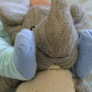 Peanut's feet with Adrian's Elephant (Miranda Hernandez)