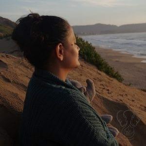 Miranda and Elephant on the California coast