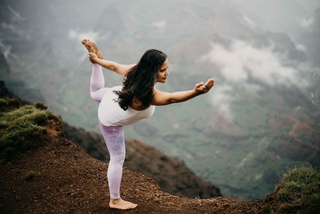 After Adrian's death, yoga became a grounding activity for me. I loved being able to balance on the edge of this cliff