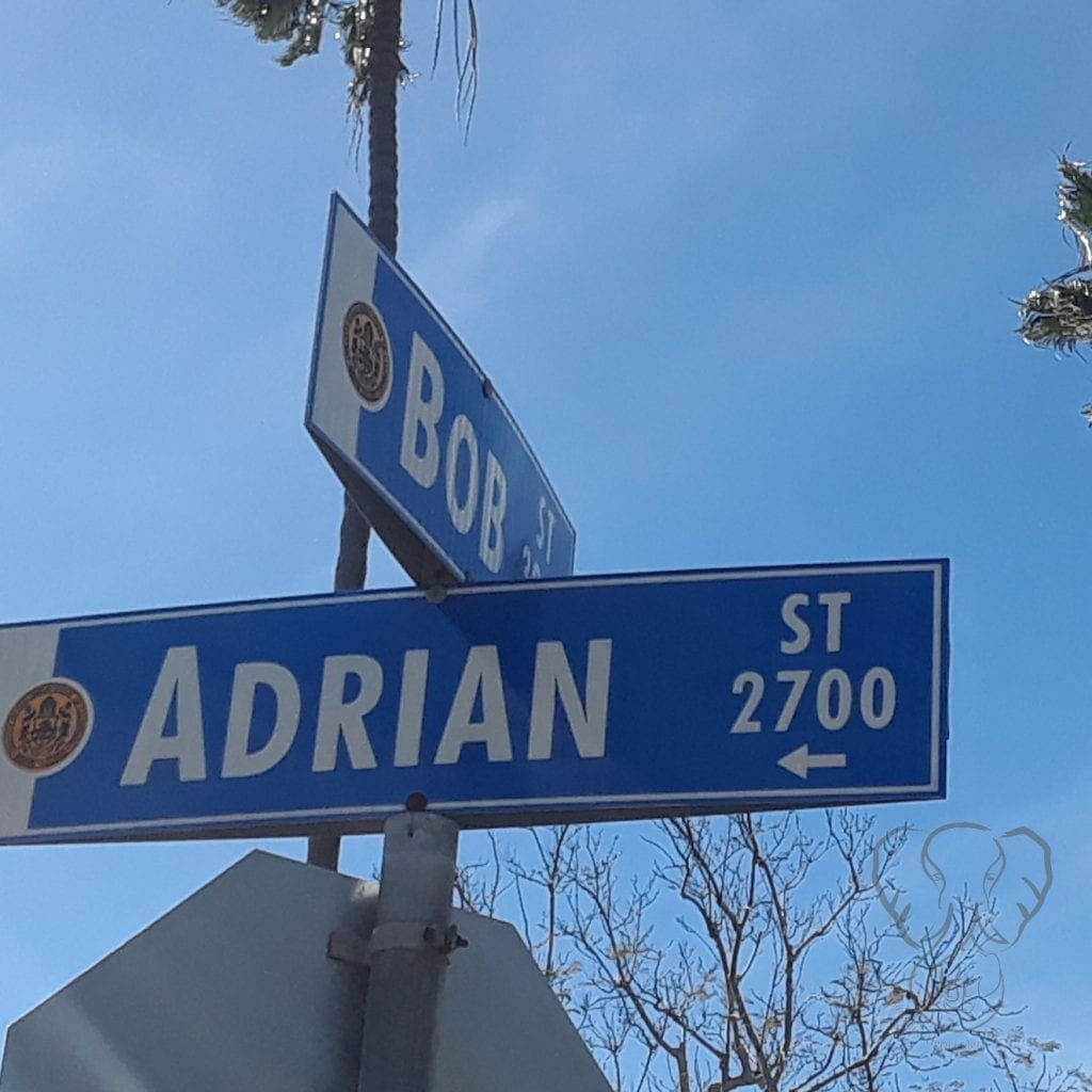Adrian Street sign in San Diego, California
