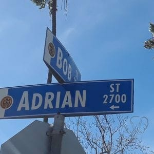 Adrian Street sign in San Diego, California