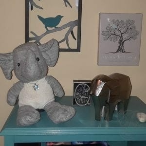 Adrian's things in Miranda's new home