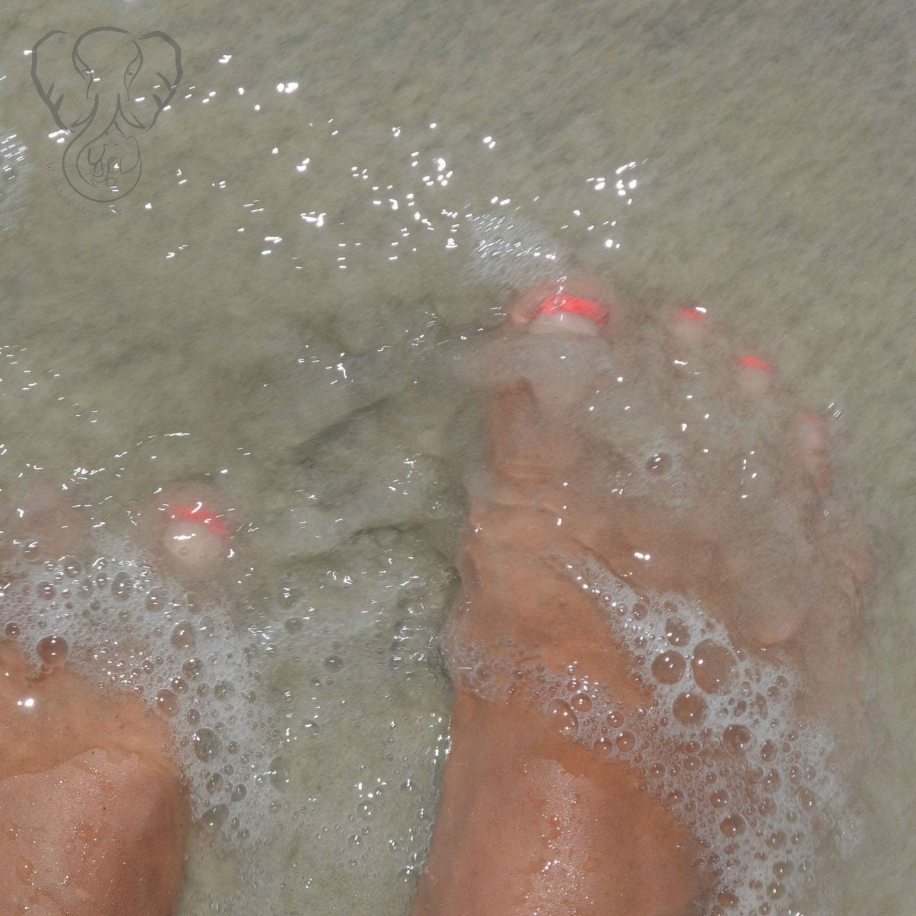 Miranda's feet in the sand, New Smyrna Beach, Florida (Miranda Hernandez)