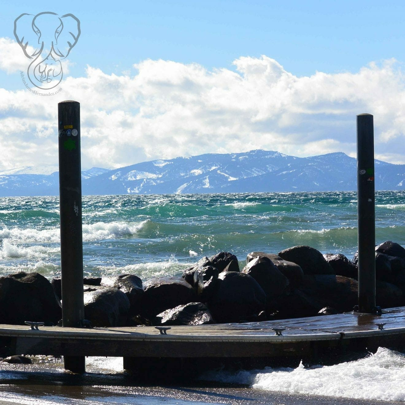 Waves on Lake Tahoe, California (Miranda Hernandez)