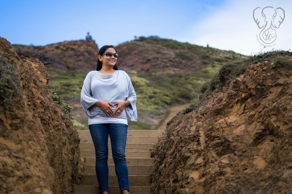 Miranda at five weeks pregnant, Twin Peaks, San Francisco (Richard Bae)