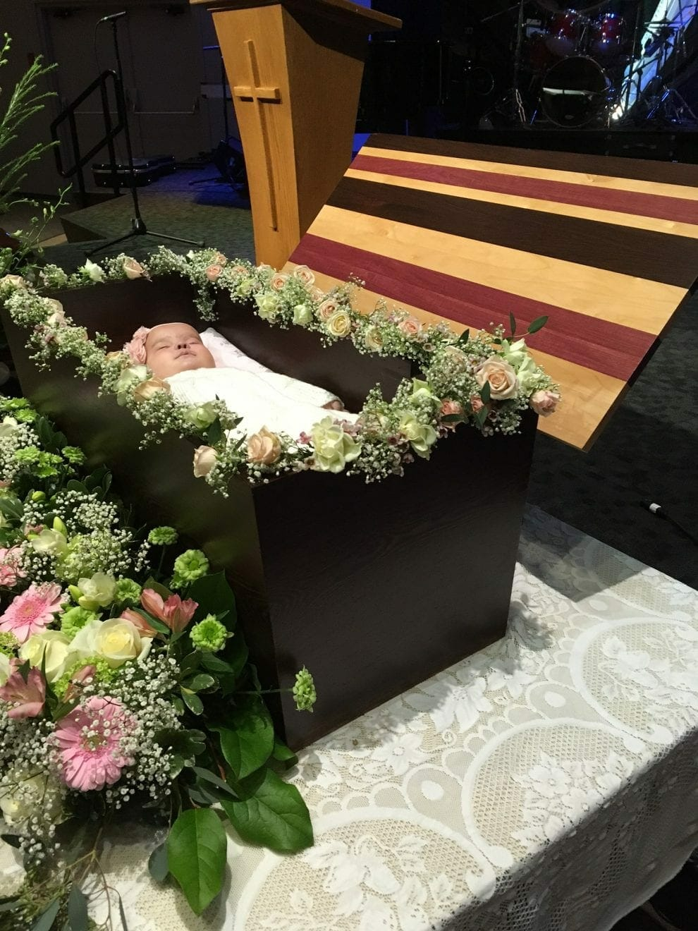 Eli-Grace's father Michael built her casket himself