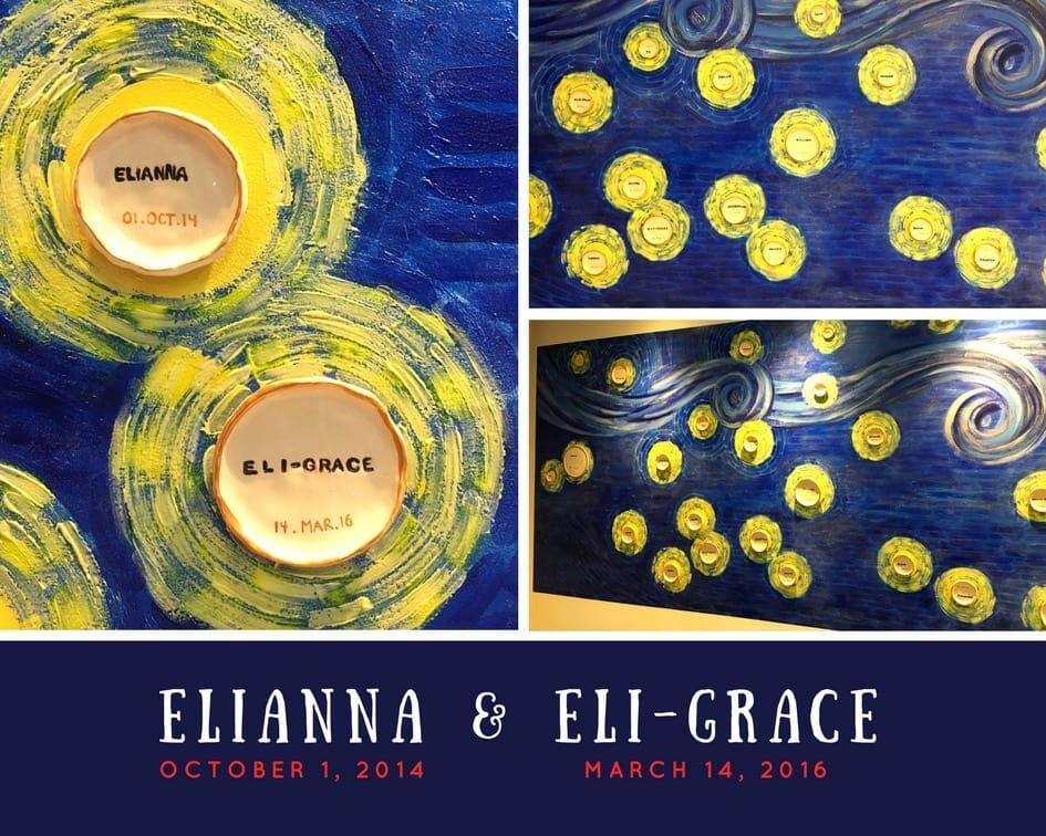 Elianna and Eli-Grace featured in a memorial wall, contributed by mother Esther