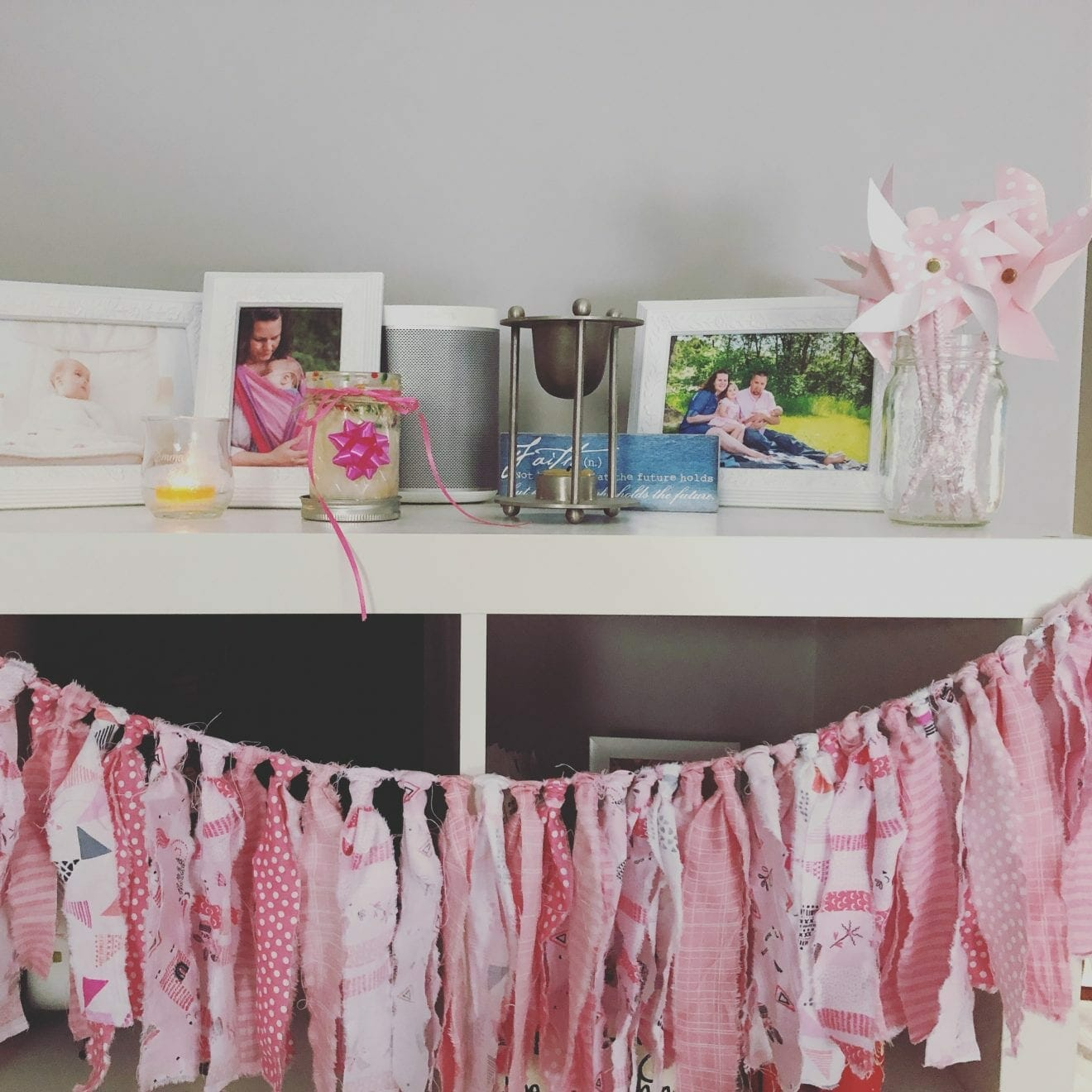 Eli-Grace's memorial shelf, contributed by mother Esther