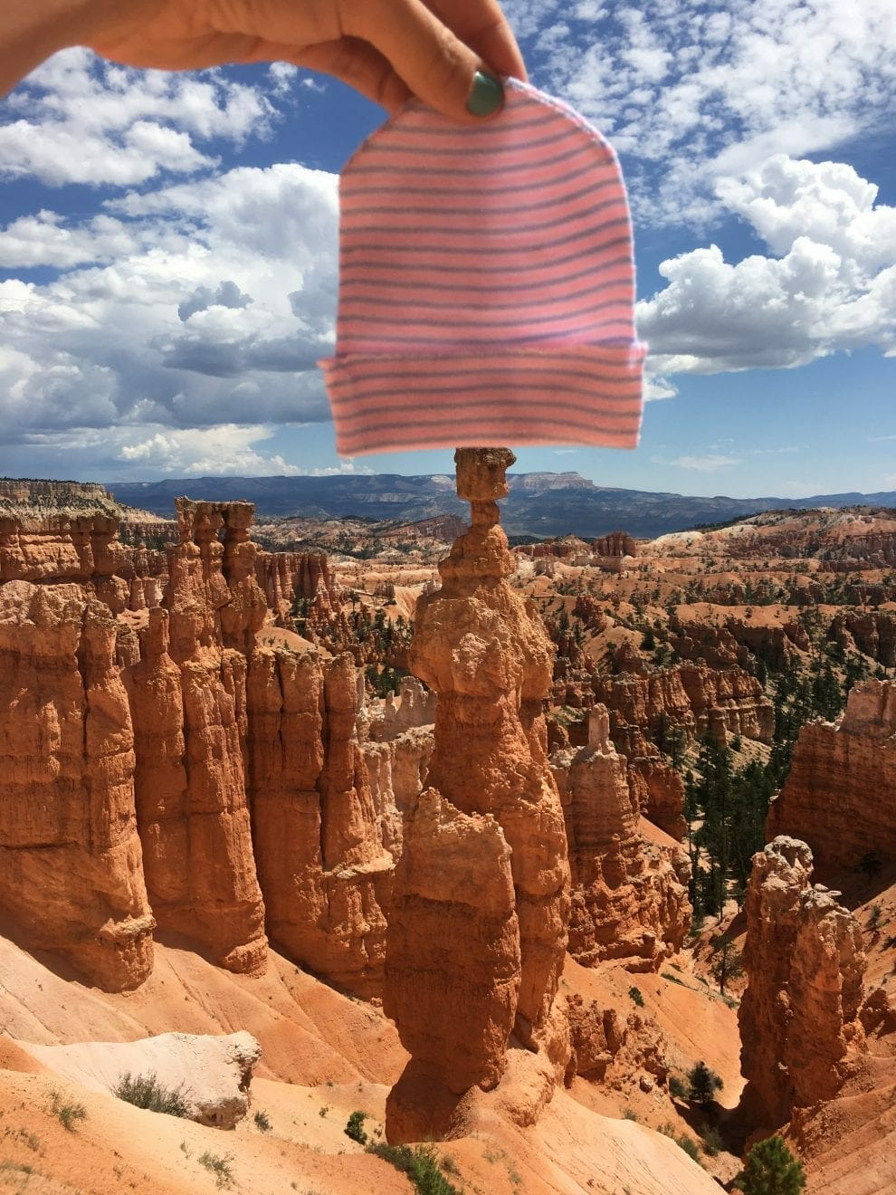 Marlowe's hat in Bryce Canyon, contributed by mother Bethany