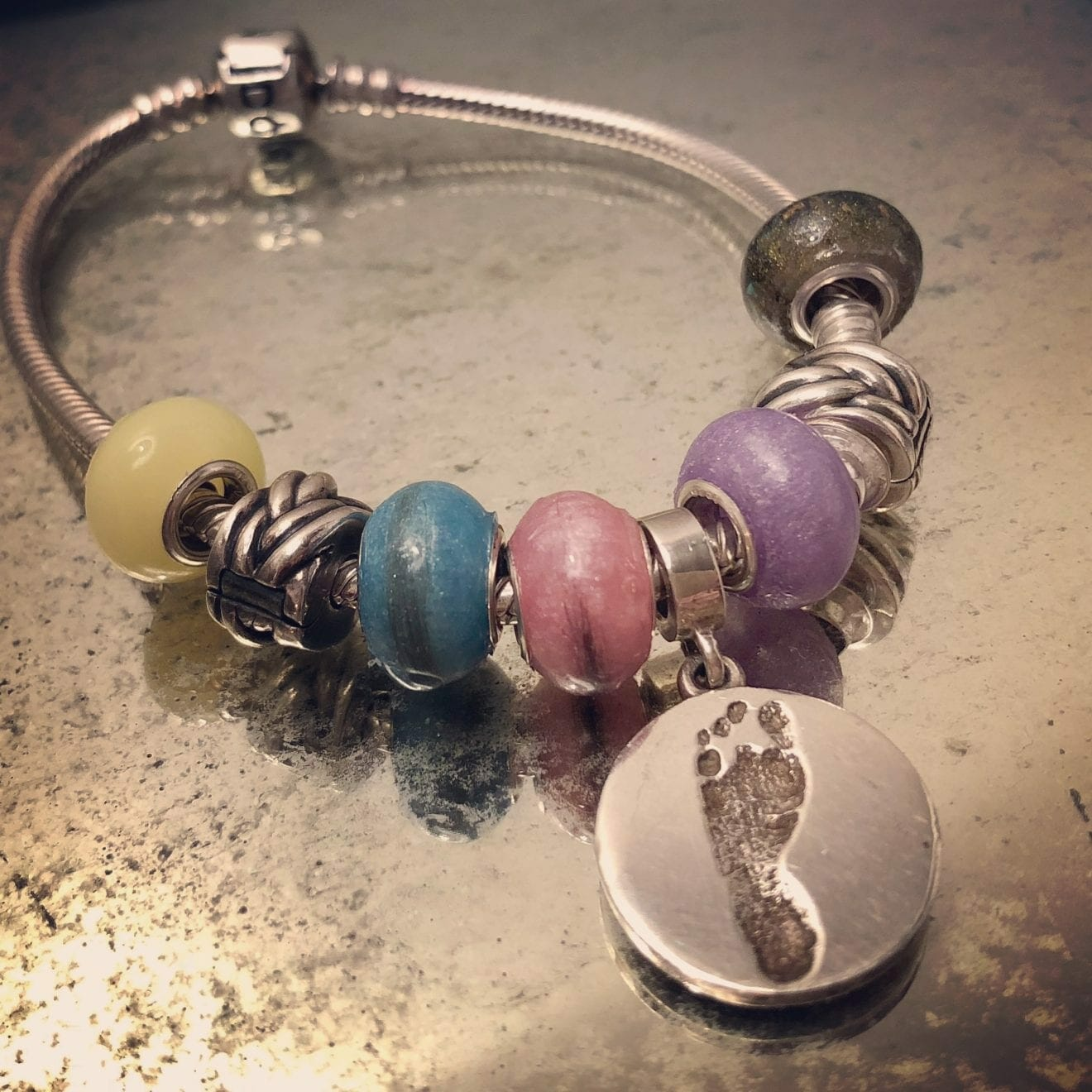 Bracelet for Emma Lynne, Elianna, Eli-Grace, and living sister Milena, contributed by mother Esther