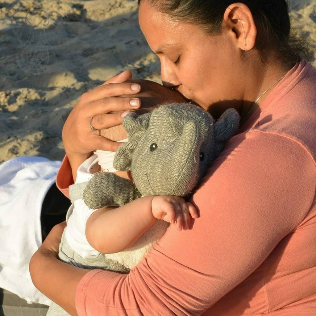 Miranda, Peanut, and Adrian's elephant in Newport Beach (photo used with permission)