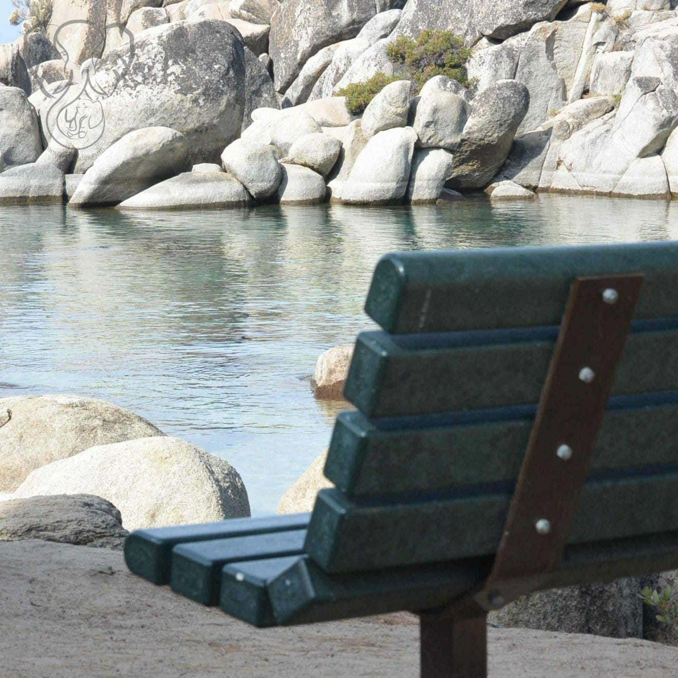 Bench on the shore of South Lake Tahoe, California (Miranda Hernandez)