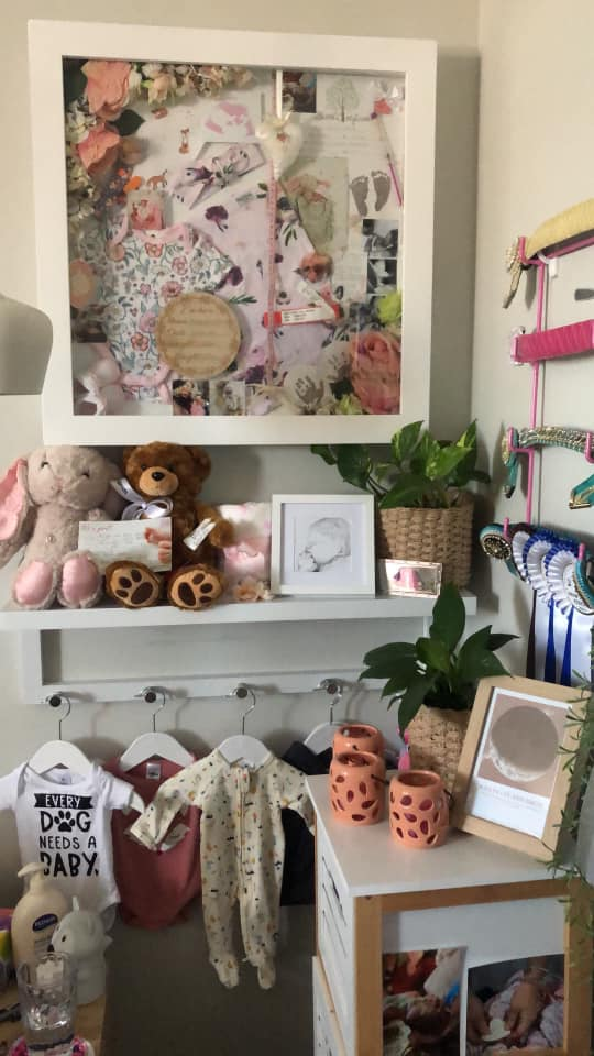 Ashlyn Lee-ann's shadowbox, contributed by mother Tarls
