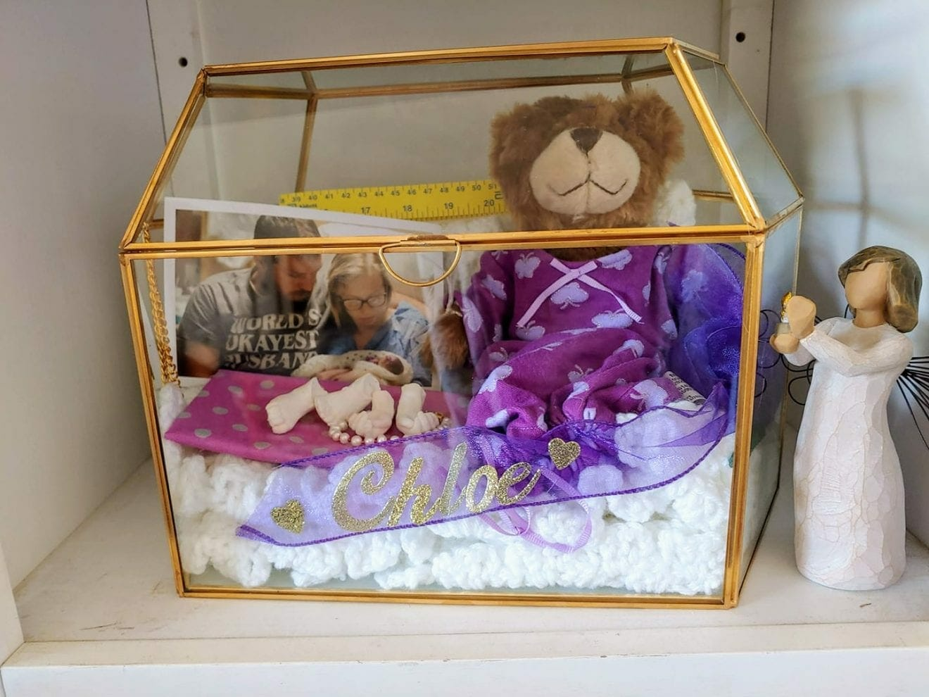 Chloe Ann's shadowbox, contributed by mother Melissa