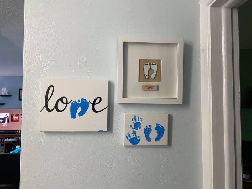 Arlo River's hand and footprints, contributed by mother Holly