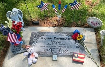 Kaylee Ann's gravestone, contributed by mother Kenzi