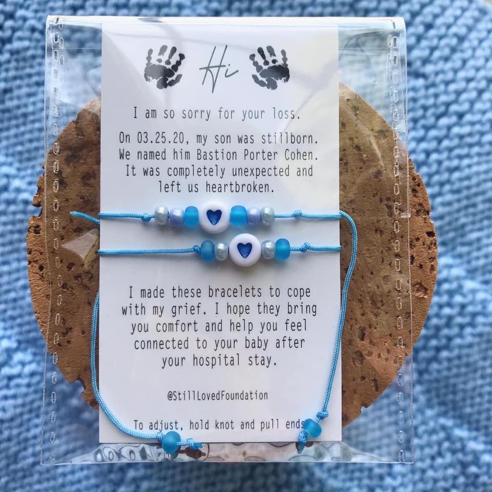 Mommy and Me Bracelets created in honor of Bastion Porter, contributed by mother Autumn