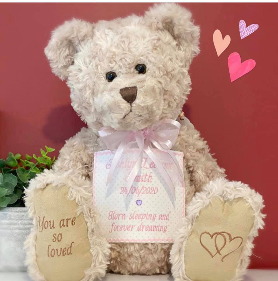 Ashlyn Lee-ann's Cami bear urn, contributed by mother Tarls