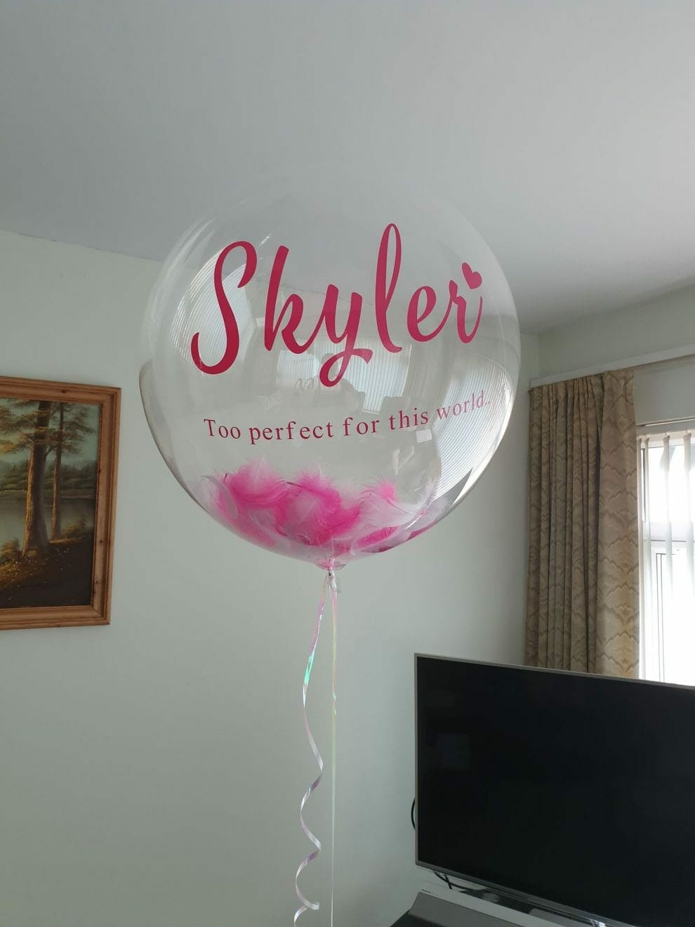 Balloon released at Skyler's funeral, contributed by mother Kim