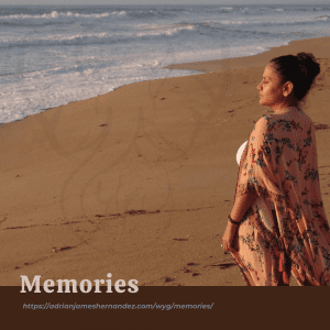 Memories (Write Your Grief) | overlaid on image of Miranda on the California coast at sunset (Synch Media)