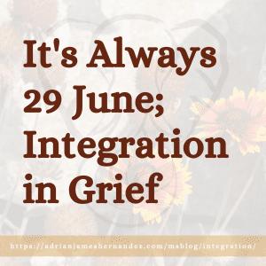 It's Always 29 June; Integration in Grief (Miranda's Blog) | Overlaid on image of wildflowers in Lake Tahoe (Miranda Hernandez)