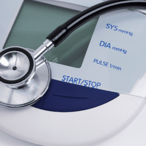 Close up image of a stethoscope and a blood pressure machine (Rallef, Getty Images)