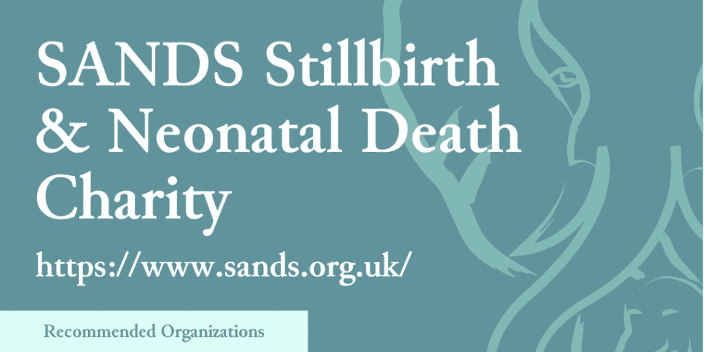 Recommended Organizations: SANDS Stillbirth & Neonatal Death Charity, https://www.sands.org.uk/