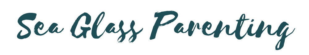 Sea Glass Parenting in signature font in dark green color