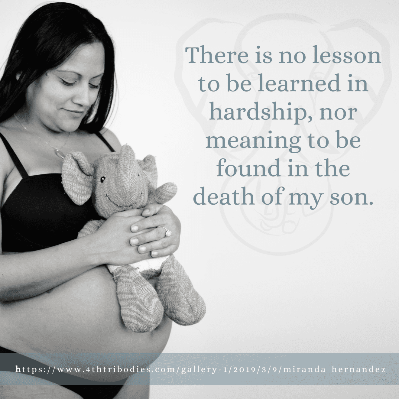 There is no lesson to be learned in hardship, nor meaning to be found in the death of my son.
